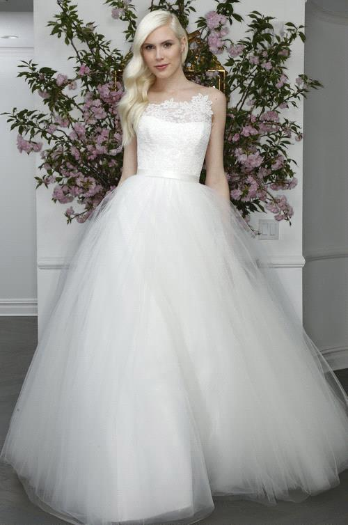 Prince Tulle Wedding Dress 2017 Transparent Mesh Back Ball Gown ...