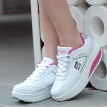 Abnehmen schuhe frauen mode leder freizeitschuhe frauen Fitness Dame Schaukel Schuhe Sommer Fabrik Deren top-qualität