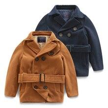 Пальто мальчика новые зима 2016 детей в детской одежды детские ткань сын длинное пальто пыли пальто толстый хан издание