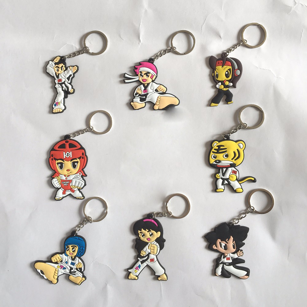 12pcs) Small Accessories Keychain Taekwondo Supplies Cartoon 48 Kinds Of Styles Choice Sport Gifts For Birthday Keepsake Pendant