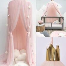 Été enfants enfant literie moustiquaire romantique bébé fille ronde lit moustiquaire lit couverture lit baldaquin pour enfant pépinière CA