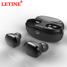 LETINE T12 TWS Bluetooth Earphone Mini Bluetooth V4.1 Headset Double Stereo Wireless Earbuds Cordless Headphones For Smart Phone