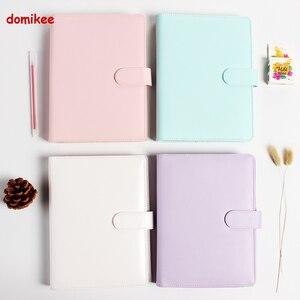 Image 5 - Macaron кожаный блокнот со спиралью, оригинальный офисный переплет, еженедельник, органайзер, милый дневник с кольцом, канцелярские товары A5 A6