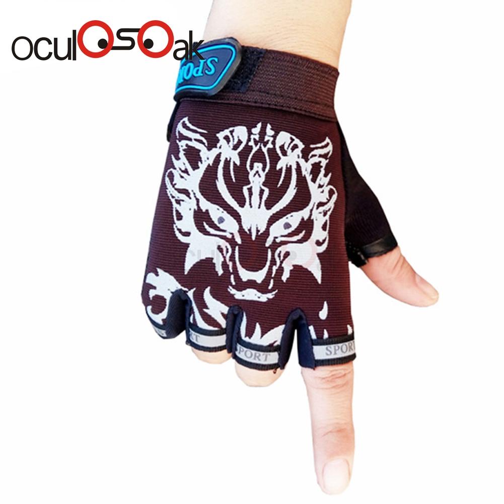 2019 Hot Sport Gloves For Kids Semi-finger Children Mittens Boys Girls Fingerless Cartoon Gloves For 5-13 Years Kid