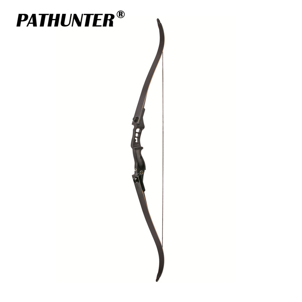 цены PATHUNTER 54 inch Recurve Bow 30-40lbs Riser Length 17 inch American Hunting Bow For Archery Outdoor Sport Hunting Practice