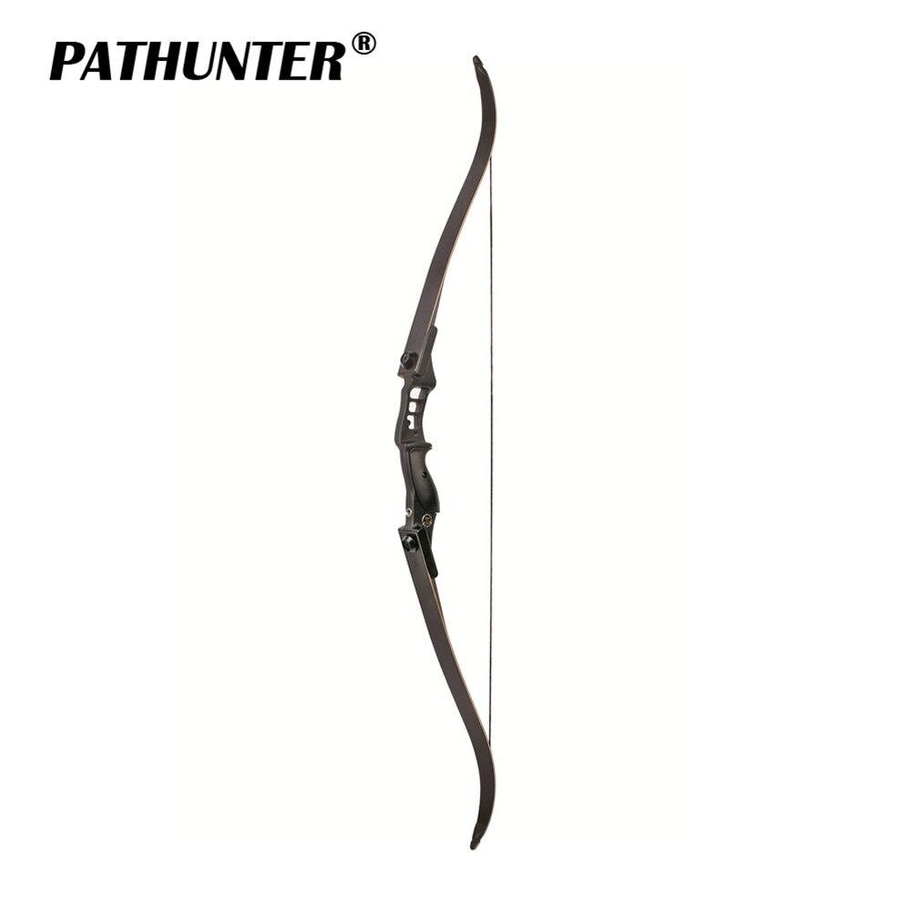 PATHUNTER 54 pouces arc classique 30-40lbs hauteur 17 pouces arc de chasse américain pour tir à l'arc Sport de plein air pratique de chasse