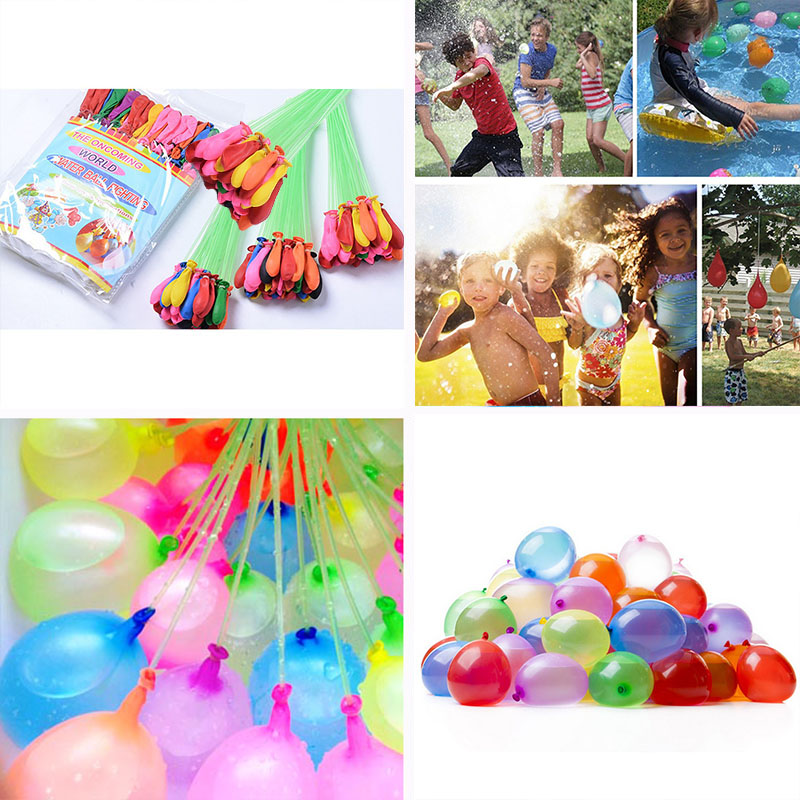 111pcs/set Funny Summer Outdoor Toy Fast Filling Magic Water Balloons Water Balloons Bombs Novelty Gag Toys For Children gift ...