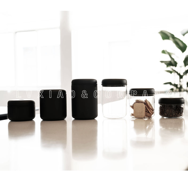 Compagni di ATMOSFERA di Vuoto sigillato può in acciaio inox vetro temperato 0.4L/0.7L/1.2L-in Bottiglie,barattoli e scatole da Casa e giardino su  Gruppo 2