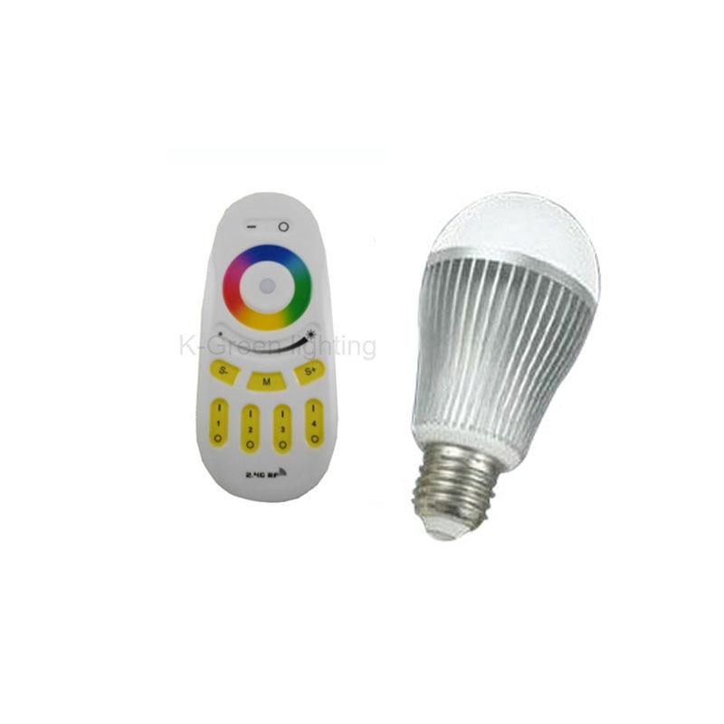 20X Оптовая Продажа 6 Вт RGBW светодиодные лампы затемнения Цвет и регулировки яркости с 2.4 г беспроводной контроллер Экспресс Бесплатная доста