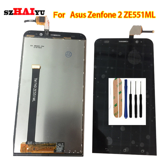 szHAIyu 5.5inch For Asus Zenfone 2 ZE551ML Z00LD LCD Display + Touch Panel Screen with frame and Free Tools