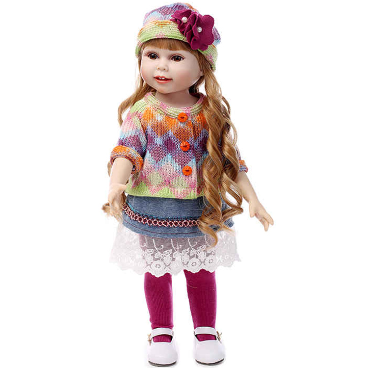 AMERICAN PRINCESS 18 45CM  girl doll with winter clothes shoes  hat children play house toys birthday giftAMERICAN PRINCESS 18 45CM  girl doll with winter clothes shoes  hat children play house toys birthday gift