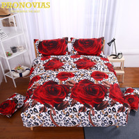 Gorgeous 3d Big Rose Print 400TC Cotton Queen Size Bedding Set Of Duvet Cover Bed Sheet