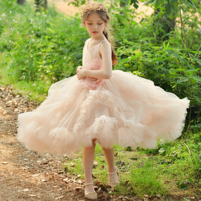 New 2018 Spring Summer Children Wear Dress Evening Dress Kids Girls Elegant Dresses Princess Flower Girl Wedding Vestido GDR399 женское платье women dresses 2015 vestido verano d5835 summer dress