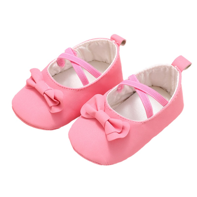 0-18M Baby PU Bright Face Spring Autumn Baby Girl Princess Shoes Children Toddler First Walker