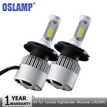Oslamp H4 Hi-Lo Voiture ampoules de phares LED 72 W 8000lm 12 v Auto LED Phare pour Toyota Highlander 4runner Avalon COURONNE PRODO PRIUS(China)