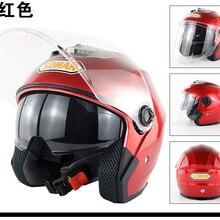 SOMAN 517 мотоцикл электрический автомобиль двойной объектив шлем половина шлем четыре сезона универсальный унисекс