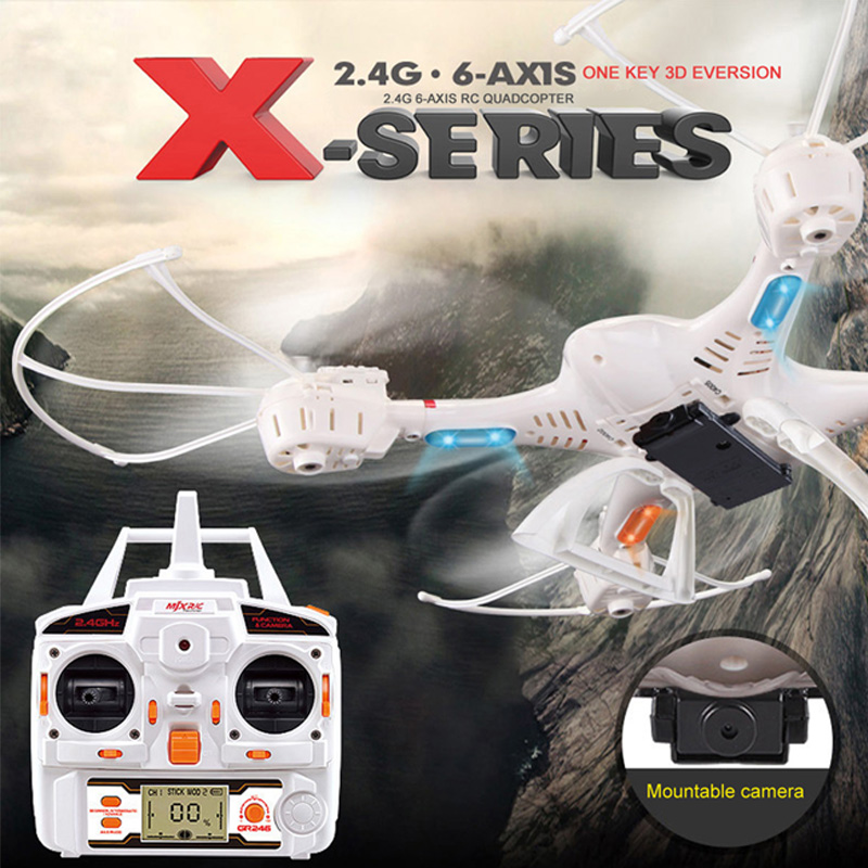 MJX X400 LED Light Helicopter 2.4GHz 6 Axis Gyro RC Quadcopter 3D Roll Stumbling Drone Dron Four Coreless Motor Drive RC Drones