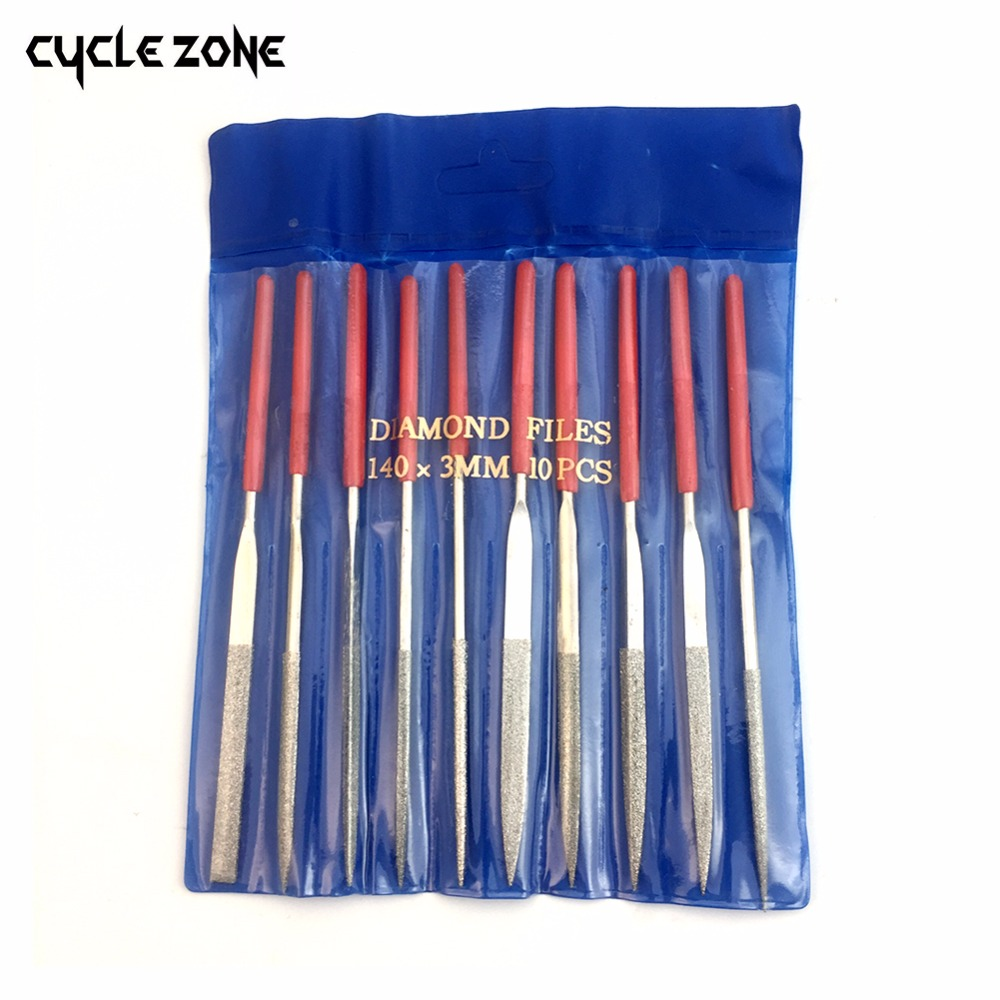 10 Pieces 140mm Diamond Mini Needle File Set Handy Tools for Ceramic Glass Gem Stone Hobbies and Crafts(China)