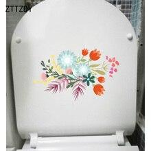 ZTTZDY 24*14CM Vintage pintado a mano ramo pegatina de pared para el hogar pegatinas paria asiento de inodoro T2-0564