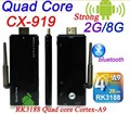 CX919 Quad Core Android 4.4 Stick de TV con XBMC DLAN WiFi Antena externa Bluetooth 4.0 1080 P Mini PC tv Box Dongle