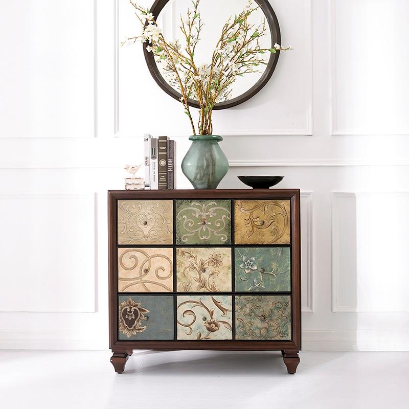 Trois tiroirs armoire départements antique bois casiers rétro chambre armoire tiroir coffre
