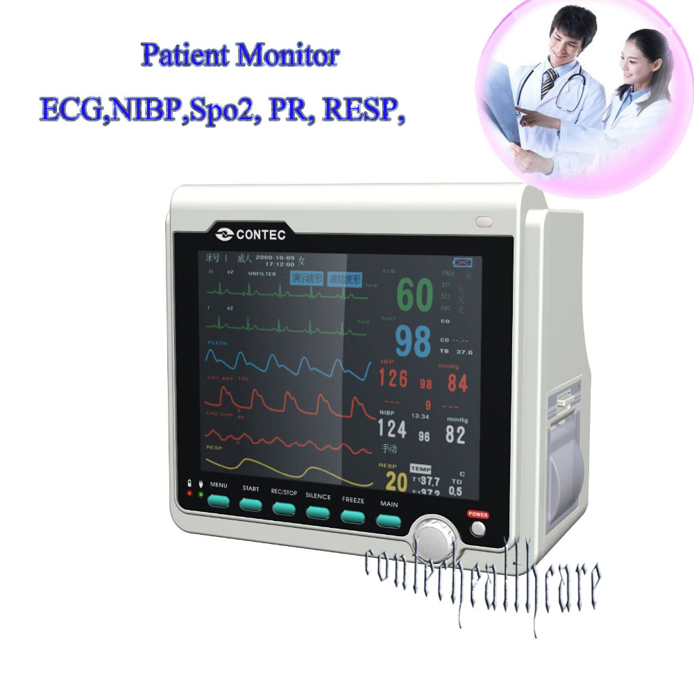 TDOU CMS6000B ICU Patient Monitor with ECG,NIBP,SPO2,Pulse Rate, Temp Resp temp