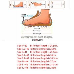 Image 5 - DEKABR 2020 أحدث الخريف الشتاء الكاحل الأحذية الدافئة جودة بولي PU جلد الرجال أحذية العمل غير رسمية خمر نمط الدانتيل يصل الرجال الأحذية
