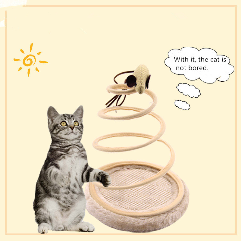 new toys for cats interactive plush spring plate funny cat training toy games pet cats mouse