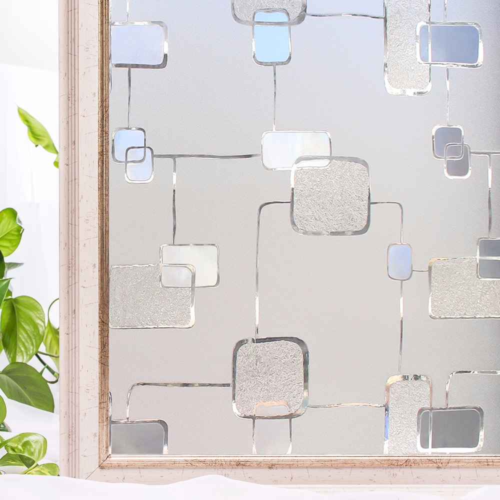 CottonColors 창 개인 정보 보호 필름 프리미엄 접착제 3D 정적 장식 홈 장식 욕실 창 유리 스티커 크기 45 x 200cm