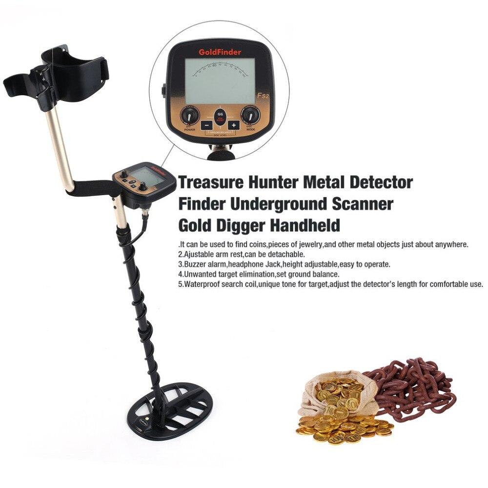 Подземный детектор металла ручной Охотник за сокровищами Gold Digger Finder чувствительный Регулируемый сканер Охота