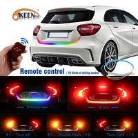 OKEEN Car Styling Wireless Remote RGB Led Trunk Strip Yellow Turn Siganl Undercarriage Floating Led Luggage