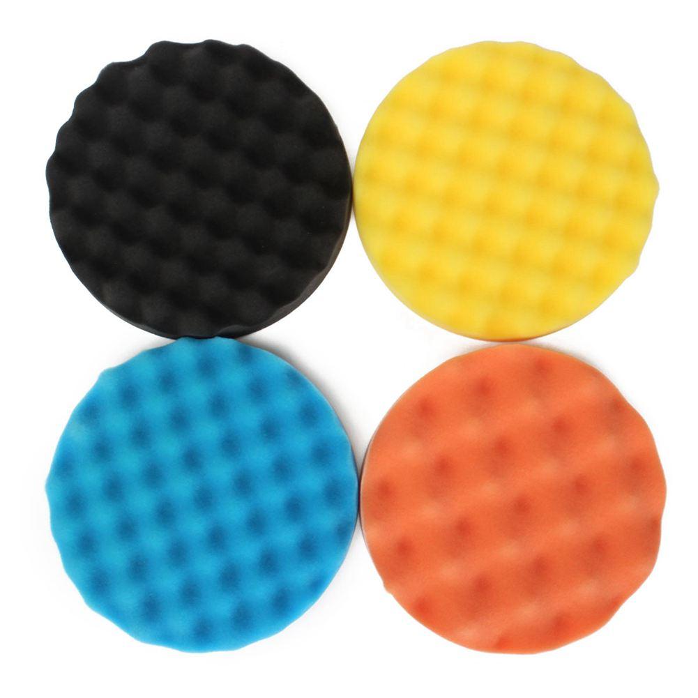4Pcs 7inch/180mm Sponge Polishing Buffer Pad Kit Tool For
