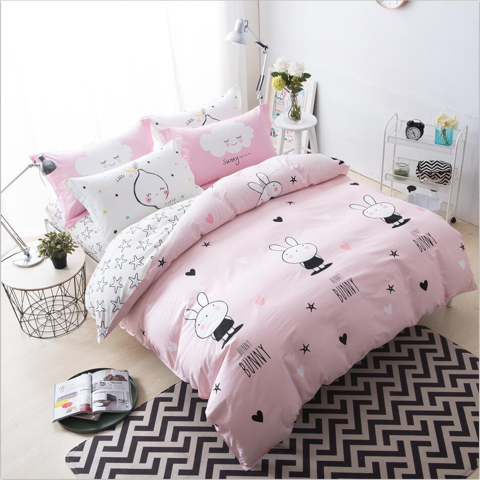 stylish duvet covers promotionshop for promotional stylish duvet  - bedding sets cartoon kids favorite home textiles printed stylish duvetcover sets bedclothes single double queen size  pcs