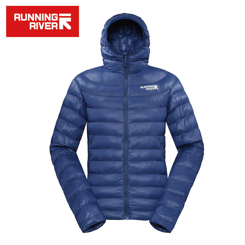 RUNNING RIVER Brand 2016 Warm Winter Cotton Jacket With Hooded For Men 5 Colors High Quality Lightweight Hiking Coat #L4358N 2016 new fashion winter jacket men high quality brand thickening casual cotton padded keep warm men coat parkas 1358
