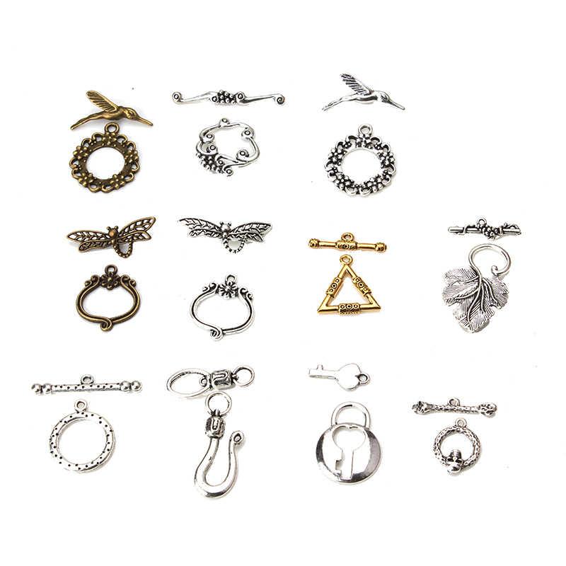 Lot 13 Set Flower Round Toggle Clasps Jump ring Necklace Bracelet Connectors