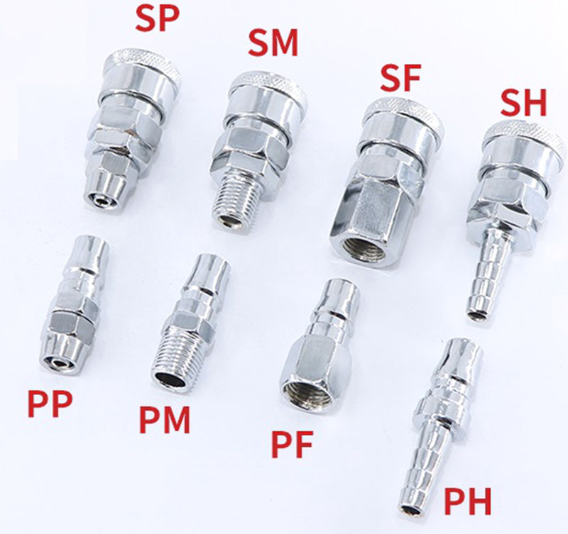 """1//8/"""" Hose Air Compressor Quick Coupler Connector Steel  SF-10 PM-10 PF-10"""