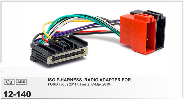Car ISO Radio Adapter Connector For Ford Focus 2011+ Fiesta C Max