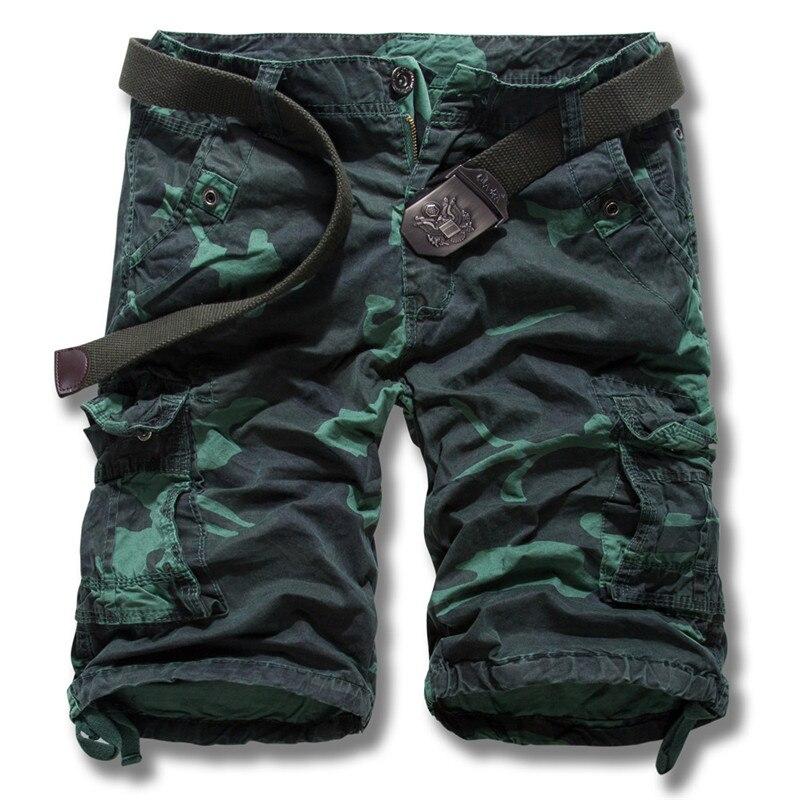 30f3386eec7 Вой высокие 2018 новые мужские летние военных грузов шорты бермуды  masculina джинсы мужской моды мешковатые брюки