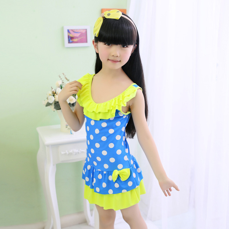 New children's bathing suit female children in South Korea, the ...