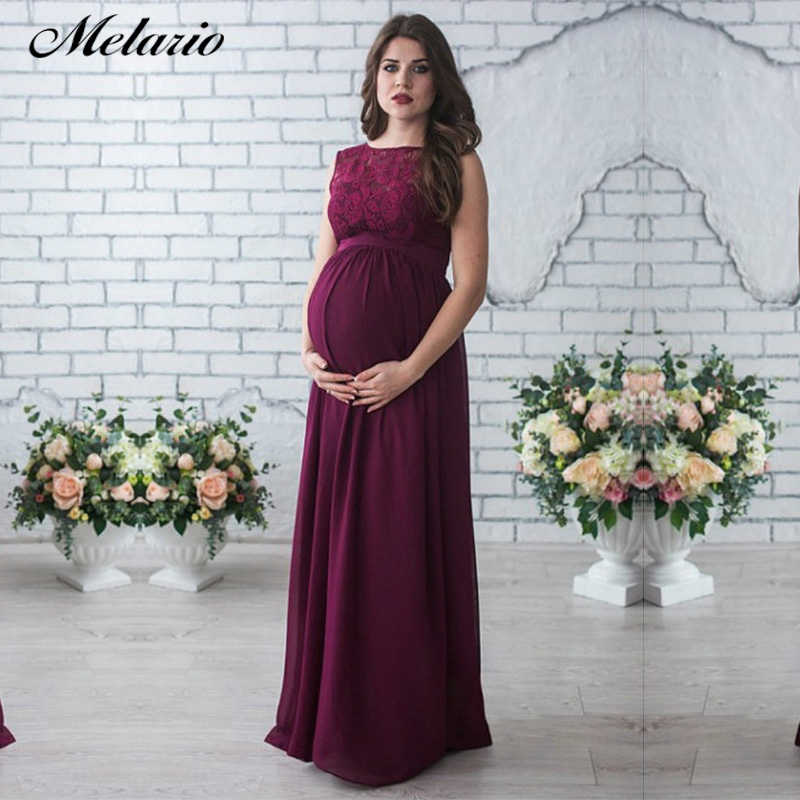 548480213deff Melario Maternity Dresses 2019 Maternity Photography Props Women Long Maxi  Dress Sexy Gown Lace O-Neck Pregnancy Dress