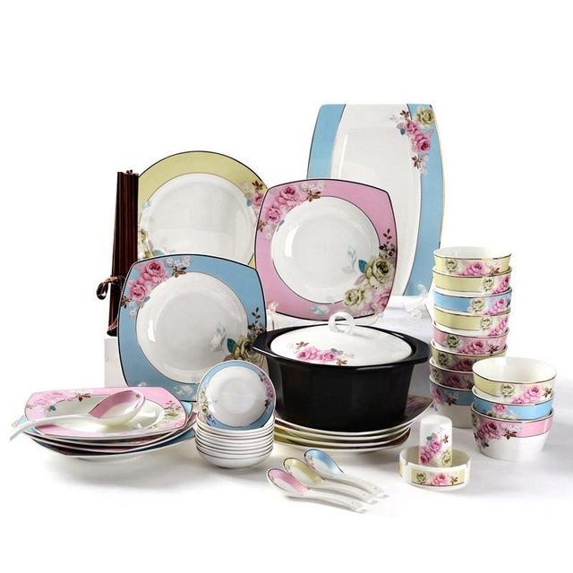 Good quality ceramics tableware Fashion creative square ...