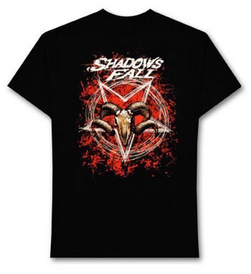 Shadow Falls Ramstar black rock t shirt size large, official band merchandise