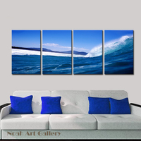 Ocean Waves Beautiful Seascape Art Picture Photo Print Modern Wall Hanging Home Decoration Living Room Multi
