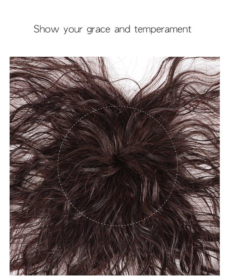 DIFEI Женская кукурузная борода натуральный цвет кудрявые волосы короткая челка верхние закрытия заколки для волос Синтетические заколки для волос