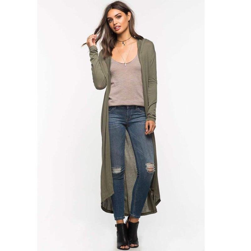Hooded Extra Long Cardigan Women Long Sleeve Cardigan Sweater ...