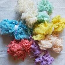 WFPFBEC волнистое Шерстяное волокно Альпака для шерстяного войлока 70 г 10 г/цвет 7 цветов
