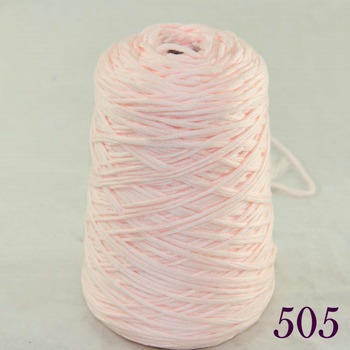 1X400g soft sell high quality 100% cotton hand woven Flesh pinkv cone 422-505 image