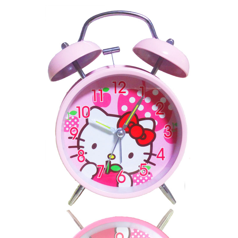 cartoon classic vintage alarm clock bell eletronic table watch desk snooze mechanical alarm clock vibrating loud clocks for kidsin alarm clocks from home