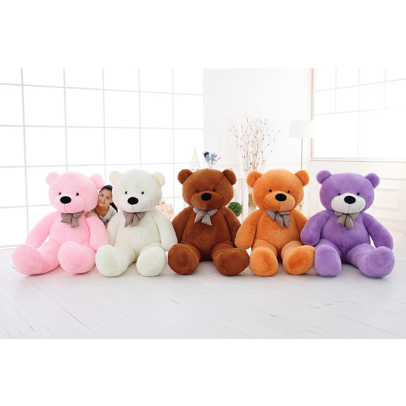 ФОТО 100cm 5 Color Anime Giant Teddy Bear Skins Peluche Plush Toys Christmas/Birthday Gifts For Kids/Baby/Friends/Girlfriends
