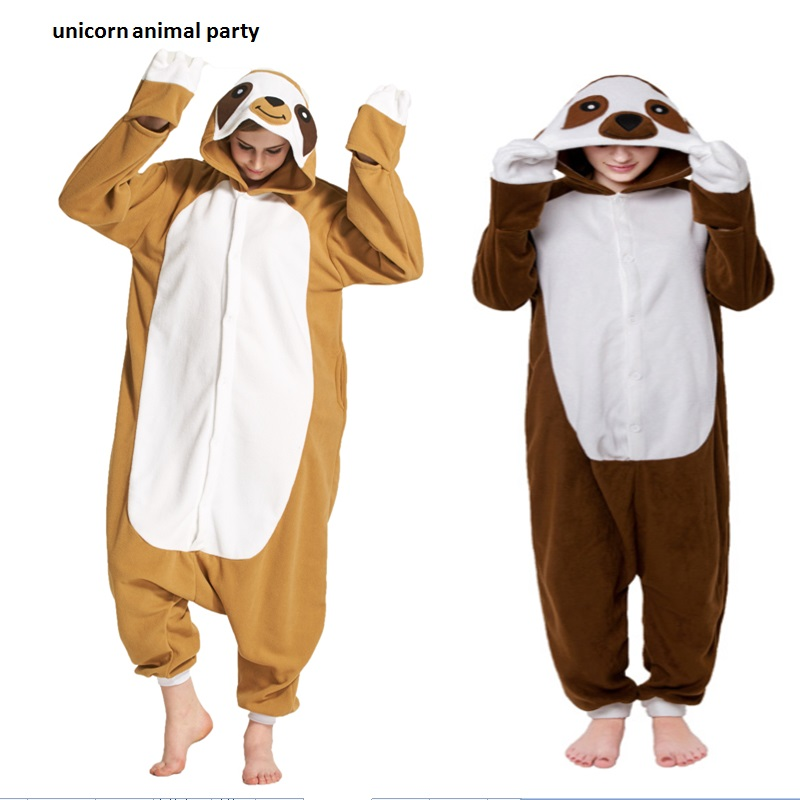 06e7eadadc97 Unisex Sloth Onesie Pyjamas Animal Sleepsuit Jumpsuits Rompers For Carnival  Party Adult Sloth Onesies Pajamas Costume Cosplay
